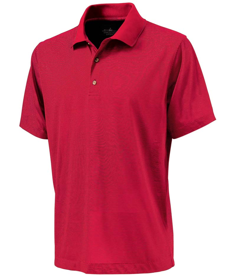 Men's Micro Stripe Polo Shirt from Charles River Apparel