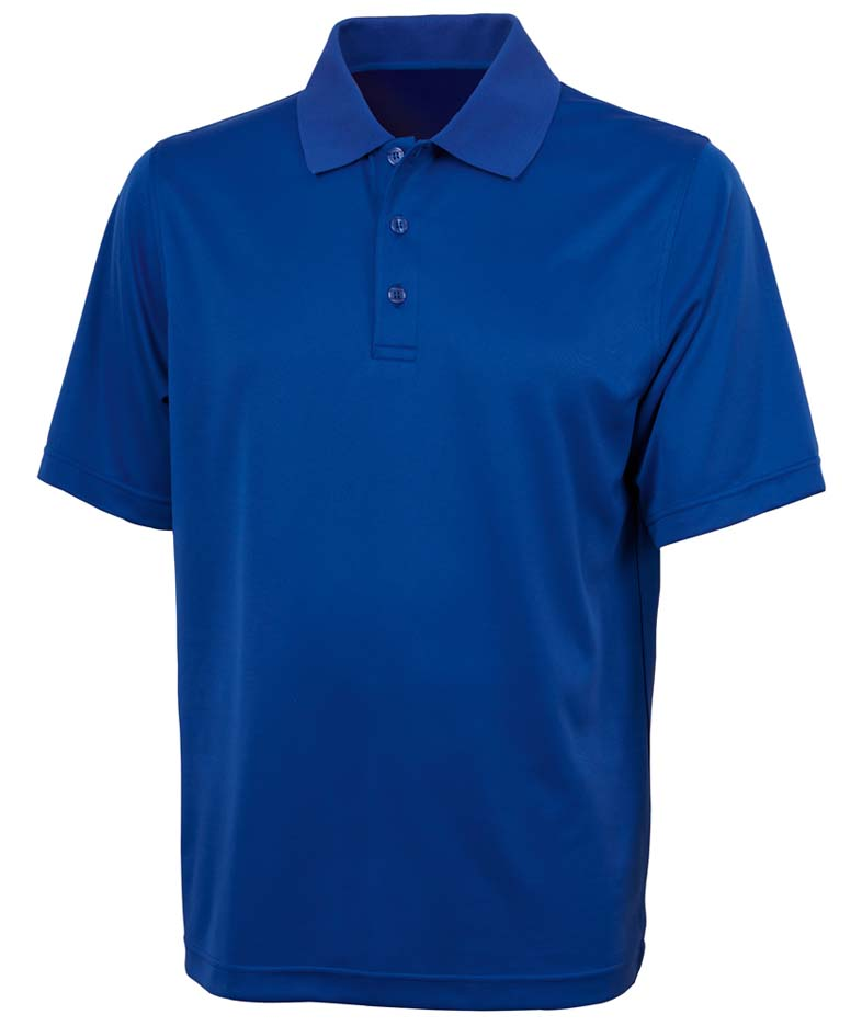 Men's Color Blocked Smooth Knit Wicking Polo from Charles River Apparel
