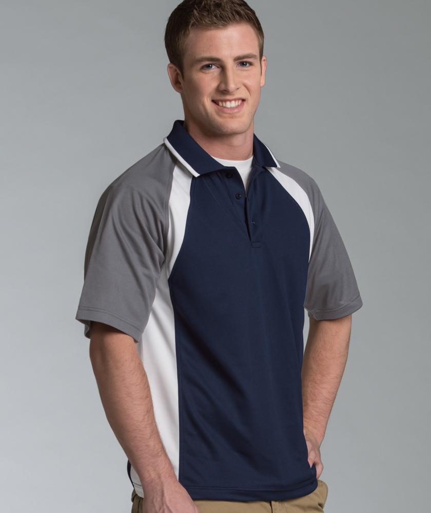 Men's Ares Button Polo Shirt from Charles River Apparel