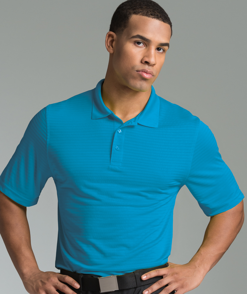 Men's Shadow Stripe Wicking Polo Shirt from Charles River Apparel
