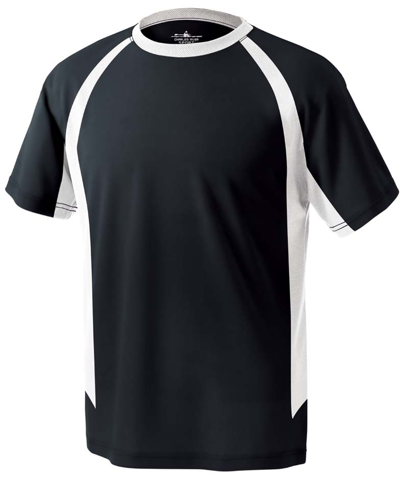 Men's Color Blocked Wicking Tee Shirt from Charles River Apparel