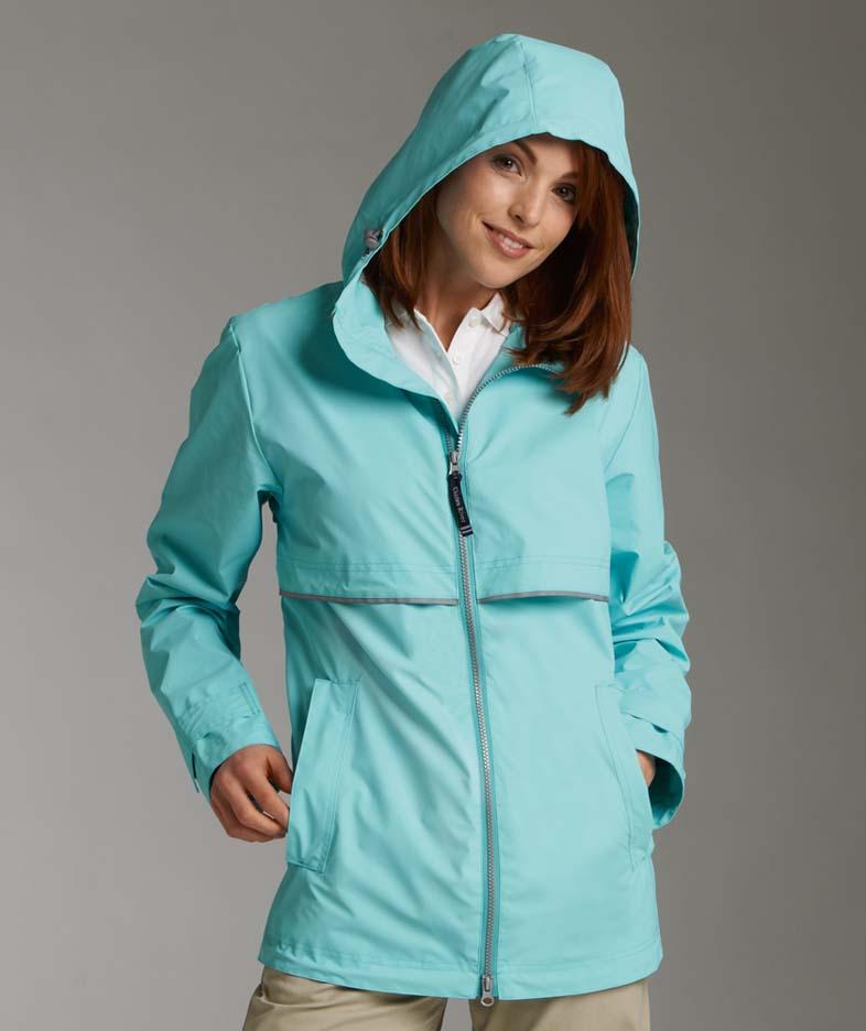Women's Waterproof New Englander Rain Jacket from Charles River Apparel