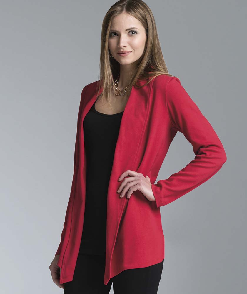 Women's Supima Cardigan Wrap / Shirt from Charles River Apparel