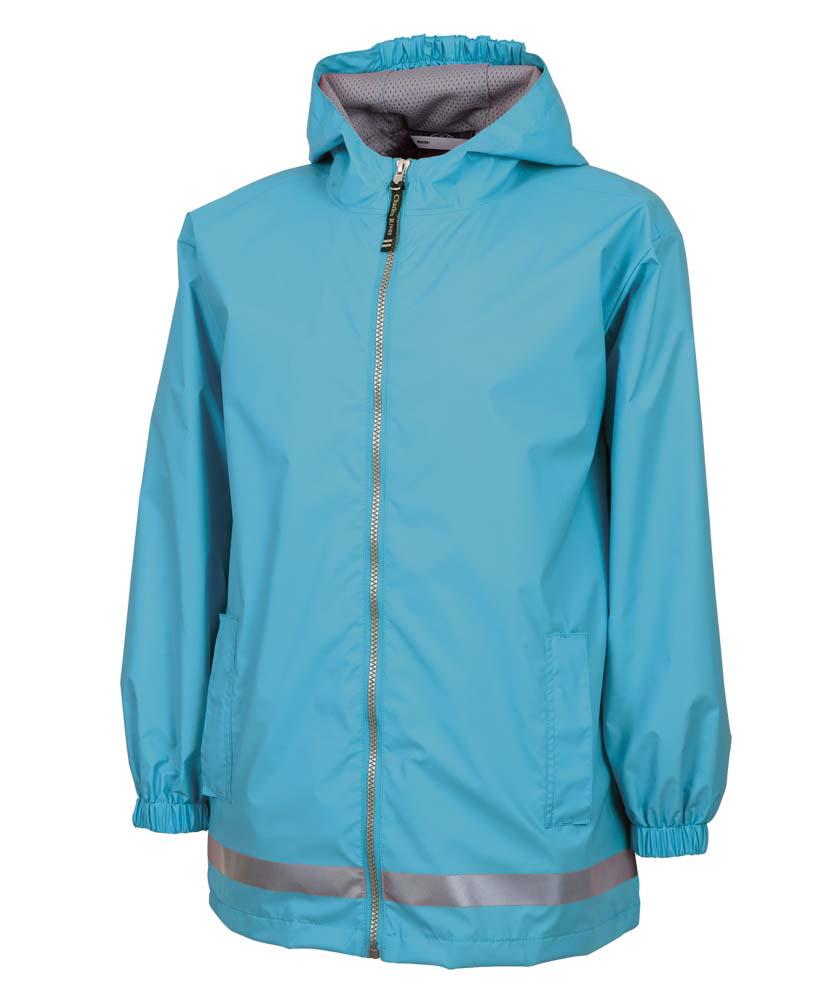 Youth New Englander Waterproof Rain Jacket by Charles River Apparel