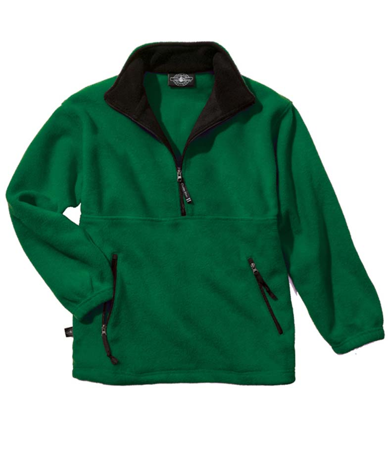 """The """"Kids' Collection"""" Youth Adirondack Fleece Pullover Jacket from Charles River Apparel"""
