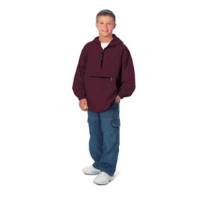 """The """"Kids' Collection"""" Youth Pack-N-Go Pullover Jacket from Charles River Apparel"""