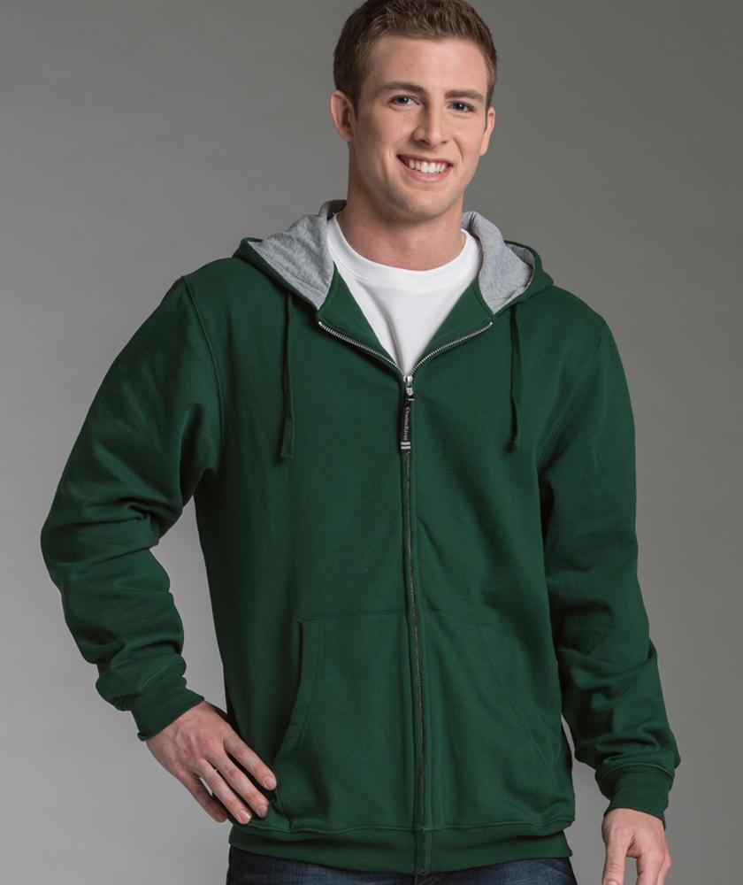 Stratus Hooded Sweatshirt from Charles River Apparel (Full Zip Jacket - Men / Women) CHR-9463