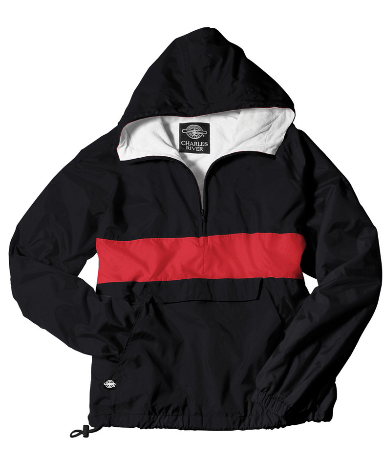 "Charles River Apparel The ""Classic Collection"" Classic CRS Striped Nylon Pullover Jacket from Charles River Apparel at Sears.com"