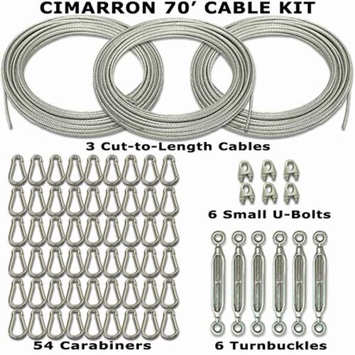 Cimarron 70' Cable Installation Kit (for use with Baseball / Softball Batting Cage)