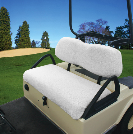 Classic Accessories Fairway Golf Car Bench Seat Fleece Cover, White