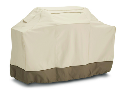 Classic Accessories Veranda Grill Cover - Supports Grill - Polyester Material - Pebble, Earth, Bark Color