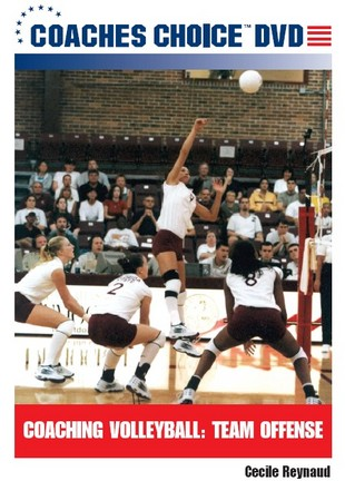 Coaching Volleyball: Team Offense discusses the strengths and weaknesses of various offensive systems, the player personnel required to execute each system effectively, and a series of sets and plays that can be used in each system. The DVD also details how coaches can utilize serve-reception patterns, overlapping, and serve-reception responsibilities in order to get the most from their players offensively.2006, 65 minutes. Features the NCAA Florida State Seminoles.