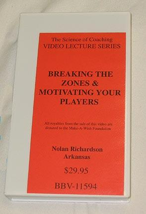 Breaking the Zones & Motivating Your Players (video) by Nolan Richardson (VHS)