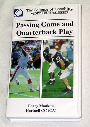 Passing Game and Quarterback Play (video) by Larry Mankins (VHS)