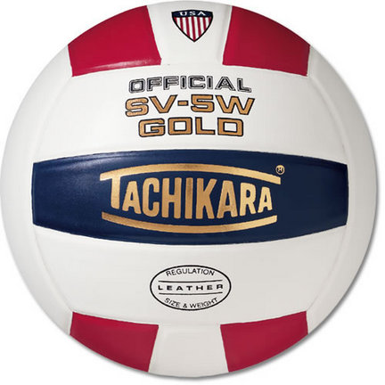"Tachikara NFHS Official Indoor SV5W Gold Premium Leather ""USA Shield"" Volleyball"