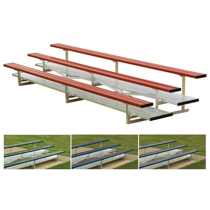 4 Row 7.5' Low Rise Bleachers (Colored)