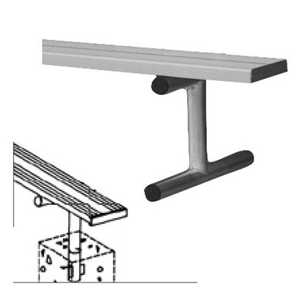 8' Heavy Duty Permanent Aluminum Bench without Back