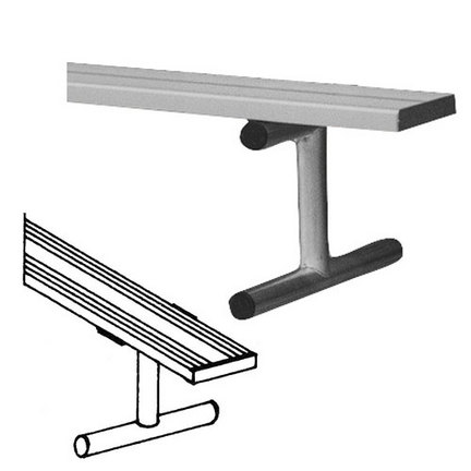 8' Heavy Duty Portable Aluminum Bench without Back