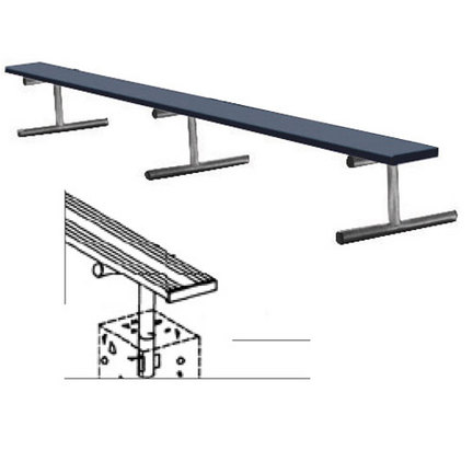 15' Color Heavy Duty Permanent Aluminum Bench without Back