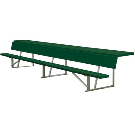 7.5'  Powder Coated Store-All Players Bench with Shelf