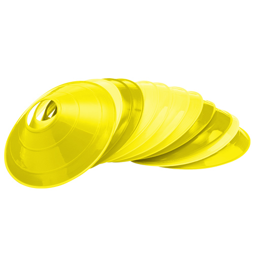Yellow Low Profile Field Practice Cones (1 Dozen) CP-1276558
