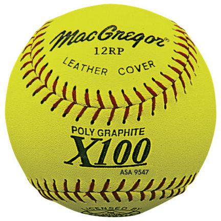 "MacGregor 12"" Poly-Core Slow Pitch Softballs - 1 Dozen"