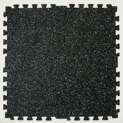 "28.5"""" x 28.5"""" x 3/8"""" Zip-Tile Flooring (Black)"" CP-1300154"
