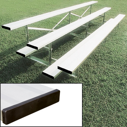 3 Row (54 Seat) 27' Aluminum Bleachers with Double Footboard