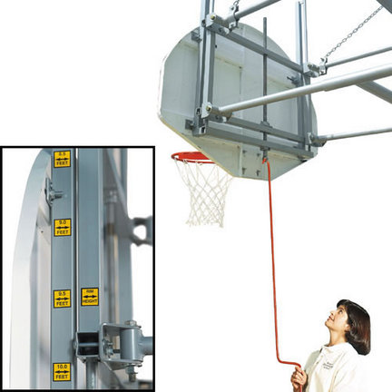 "Bison Gymnasium Backboard Height Adjustment System (36"" x 62"" Rectangle Mounting)"