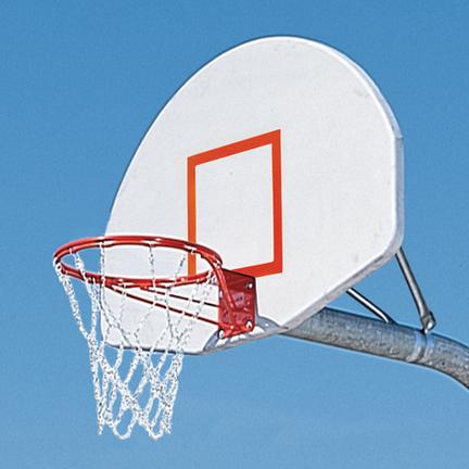 Titan Rim Gooseneck System Natural Aluminum Basketball Backboard