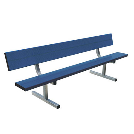 21' Powder Coated Portable Bench with Back