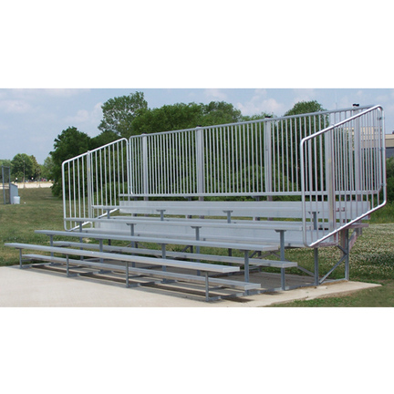 8 Row (112 Seat) 21' Bleachers with Vertical Railing