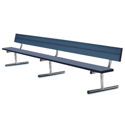 15' Heavy Duty Permanent Aluminum Bench without Back