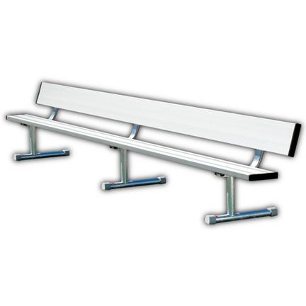 15' Heavy Duty Portable Aluminum Bench with Back