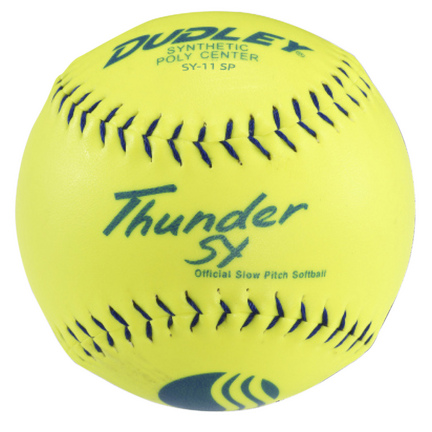 "11"" Dudley Thunder SY Classic W Stamped Softballs - 1 Dozen"