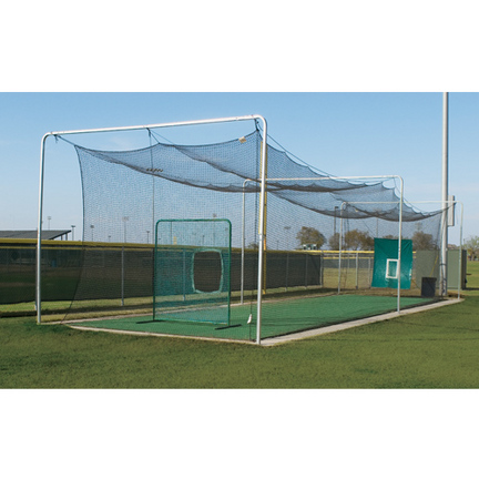 batting cage outdoor frame with installation kit 4 sections