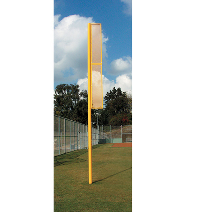 12' Above Ground Foul Ball Poles - 1 Pair
