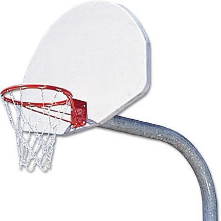 Lifetime Rim Gooseneck System with Painted Aluminum Basketball Backboard