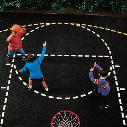 Basketball Court Stencil CP-MSBBCSXX