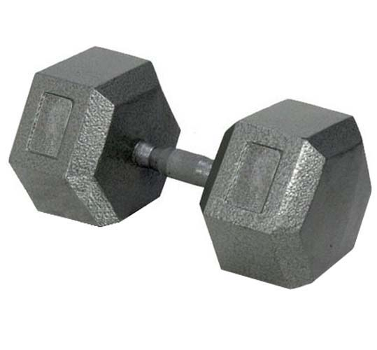 50 lbs. Solid Hex Dumbbell with Ergonomic Grip