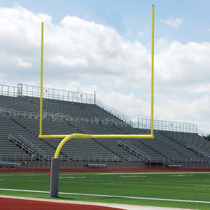 Official High School Yellow Gooseneck Goal Post (1 Pair)