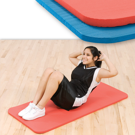 "5/8"""" x 39"""" x 72"""" Ribbed MultiPurpose Exercise Mat (Blue)"" CP-1013047"