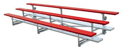 15' Color Stationary Bleachers (5 Rows)
