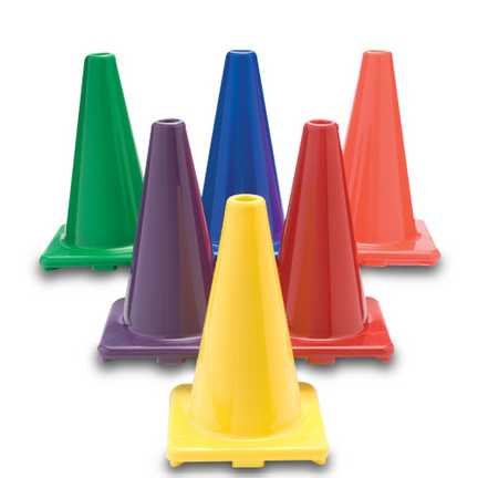 """Color My Class® 12"""" Game Cones (Set of 6)"""