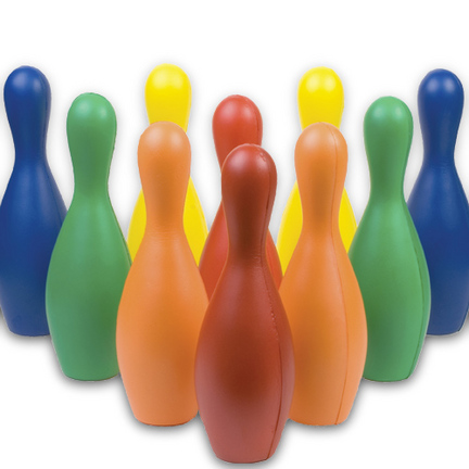 Multi-Color Foam Bowling Pin Set