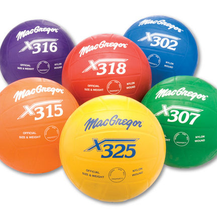 MacGregor® Regulation Size Multicolor Volleyballs Prism Pack (Set of 6 Balls)