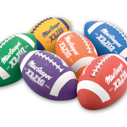 MacGregor® Multicolor Junior Size Football Prism Pack (Set of 6 Balls)