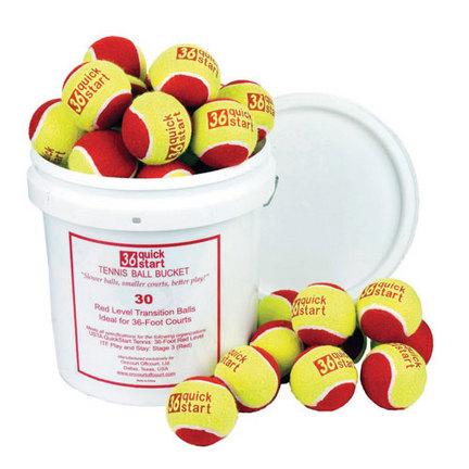 QuickStart 36' Court Tennis Balls and Bucket