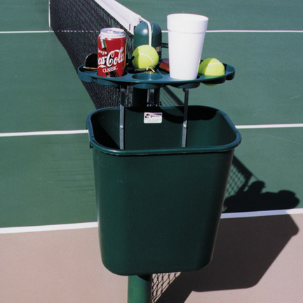 Tennis Court Valet Tray and Trash Can