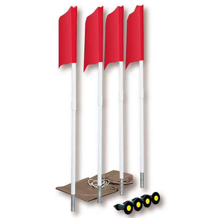 Basic Four Corner Flag Set from Markers Inc.